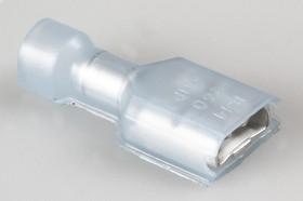 Фото 1/6 3-350819-2 (SG57748), Наконечник ножевой 6.3 изолированный синий