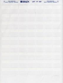 LAT-17-361, Маркировка кабельная самоклеющаяся (1лист) (1000/15/1)