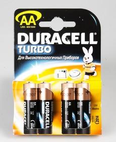Фото 1/2 Батарея DURACELL Turbo MAX LR6-4BL, 4 шт AA