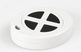 Фото 1/2 G1402-4G, Кнопка-брелок 55х43х13.4 мм, пластик, серая с 4 кнопками