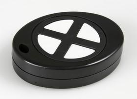 G1402-4B, Кнопка-брелок 55х43х13.4 мм, пластик, черная с 4 кнопками