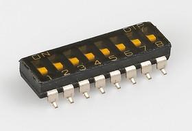 SBS1008 (ВДМ1-8) (SDMR-08-T), Переключатель DIP SMD, 8 контактных групп