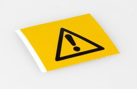 """PIC-308 Предупреждающий знак безопасности """"Опасность"""", 25 мм, 250 шт/рул, B-7541(ламинированный полиэстер)"""