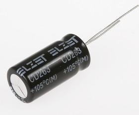 Фото 1/2 ECAP (К50-35), 22 мкФ, 400 В, 105°C, Конденсатор электролитический алюминиевый