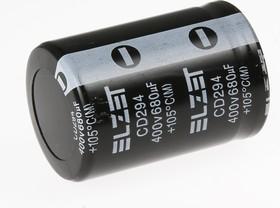 ECAP (К50-35), 680 мкФ, 400 В, 105°C, snap in, Конденсатор электролитический алюминиевый