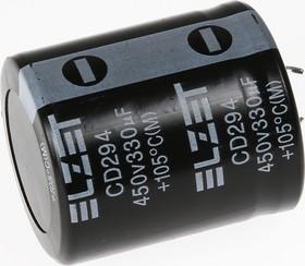 ECAP (К50-35), 330 мкФ, 450 В, 105°C, Конденсатор электролитический алюминиевый