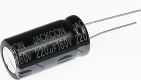 Фото 1/2 ECAP (К50-35), 220 мкФ, 160 В, 105°C, Конденсатор электролитический алюминиевый