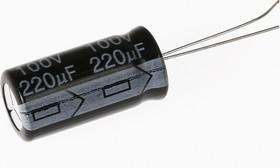ECAP (К50-35), 220 мкФ, 100 В, 105°C, Конденсатор электролитический алюминиевый