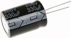 ECAP (К50-35), 330 мкФ, 200 В, 105°C, Конденсатор электролитический алюминиевый