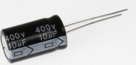 Фото 1/3 ECAP (К50-35), 10 мкФ, 400 В, 105°C, Конденсатор электролитический алюминиевый