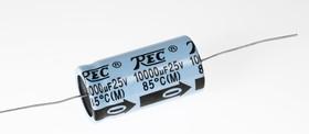 ECAP AXIAL (К50-29), 10000 мкФ, 25 В, 85°C, Конденсатор электролитический алюминиевый аксиальный