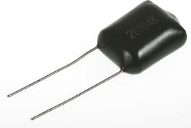 Фото 1/2 К73-17 имп, 0.1 мкФ, 250 В, 5-10%, Конденсатор металлоплёночный