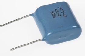 Фото 1/2 К73-17, 0.47 мкФ, 630 В, 5%, Конденсатор металлоплёночный