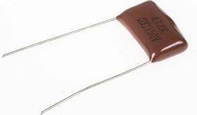 Фото 1/3 К73-17 имп, 0.47 мкФ, 250 В, 10%, Конденсатор металлоплёночный