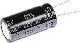 Фото 1/3 ECAP (К50-35), 2200 мкФ, 63 В, 105°C, Конденсатор электролитический алюминиевый
