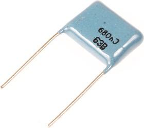 К73-17, 0.68 мкФ, 63 В, 5%, Конденсатор металлоплёночный