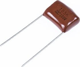 Фото 1/2 К73-17 имп, 1 мкФ, 100 В, 5-10%, Конденсатор металлоплёночный