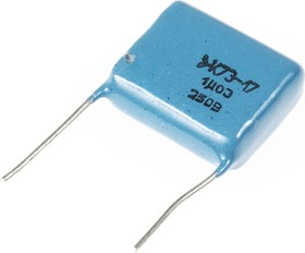 Фото 1/2 К73-17, 1 мкФ, 250 В, 5%, Конденсатор металлоплёночный