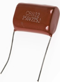 К73-17 имп, 2.2 мкФ, 250 В, 5-10%, Конденсатор металлоплёночный