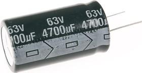 ECAP (К50-35), 4700 мкФ, 63 В, 105°C, Конденсатор электролитический алюминиевый