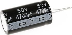 ECAP (К50-35), 4700 мкФ, 50 В, 105°C, Конденсатор электролитический алюминиевый