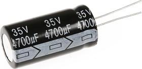 Фото 1/3 ECAP (К50-35), 4700 мкФ, 35 В, 105°C, Конденсатор электролитический алюминиевый