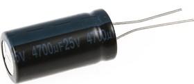 ECAP (К50-35), 4700 мкФ, 25 В, 105°C, Конденсатор электролитический алюминиевый