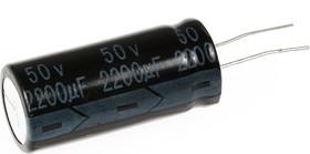 Фото 1/4 ECAP (К50-35), 2200 мкФ, 50 В, 105°C, Конденсатор электролитический алюминиевый