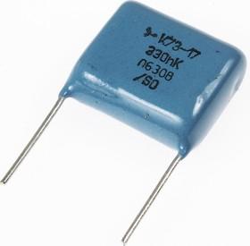 К73-17, 0.33 мкФ, 630 В, 10%, Конденсатор металлоплёночный