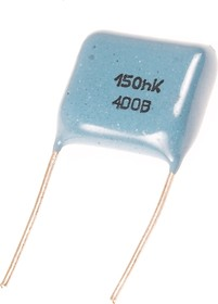 К73-17, 0.15 мкФ, 400 В, 10%, Конденсатор металлоплёночный