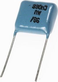 Фото 1/2 К73-17, 0.33 мкФ, 250 В, 5%, Конденсатор металлоплёночный