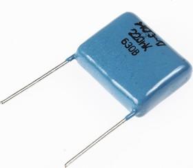 К73-17, 0.22 мкФ, 630 В, 10%, Конденсатор металлоплёночный