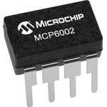 Фото 2/4 MCP6002-I/P, Операционный усилитель, Двойной, 2 Усилителя, 1 МГц, 0.6 В/мкс, 1.8В до 6В, DIP, 8 вывод(-ов)