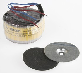 Фото 1/2 ТТП-15 (2х12В, 0.55А), Трансформатор тороидальный, 2х12В, 0.55А
