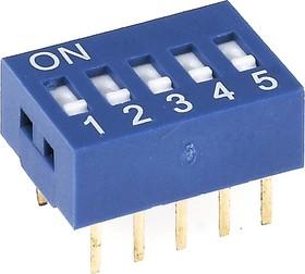 Фото 1/2 SWD1-5 (ВДМ1-5), Переключатель DIP, 5 контактных групп