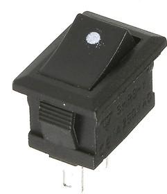SMRS-101-1C2 черный, Переключатель ON-OFF (1A 250VAC) SPST 2P