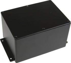 BS39MFBK, Корпус для РЭА 171x121x106мм, металл, герметичный, с крепежным фланцем, черный