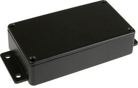 Фото 1/2 BS13MFBK, Корпус для РЭА 114x64x30мм, металл, герметичный, с крепежным фланцем, черный