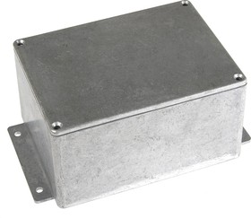 Фото 1/6 BS29MF, Корпус для РЭА 140x100x75мм, металл, герметичный, с крепежным фланцем (OBSOLETE)