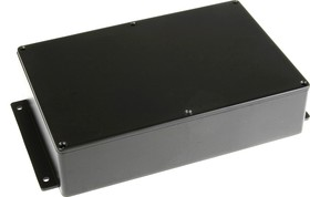 Фото 1/2 BS11MFBK, Корпус для РЭА 222x146x55мм, металл, герметичный, с крепежным фланцем, черный