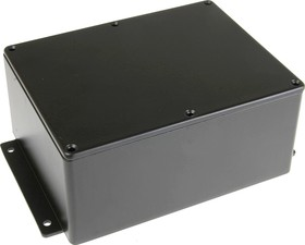 BS33MFBK, Корпус для РЭА 165x127x75мм, металл, герметичный, с крепежным фланцем, черный
