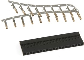 BLS-19 (DS1071 - 1x19), Гнездо на кабель 1х19 с контактами 2.54мм