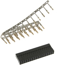 BLD-36 (DS1071-2x18), Гнездо на кабель 2х18 с контактами 2.54мм