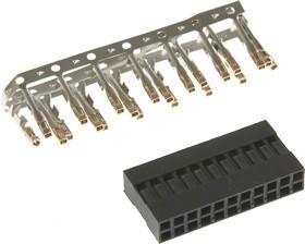 BLD-22 (DS1071-2x11), Гнездо на кабель 2х11 с контактами 2.54мм