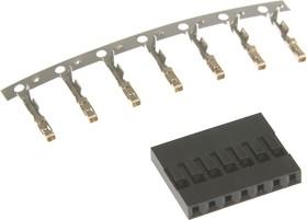 BLS-7 (DS1071-1x7), Гнездо на кабель 1х7 с контактами 2.54мм