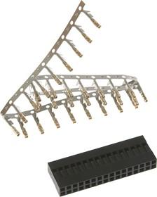 Фото 1/2 BLD-32 (DS1071 - 2x16), Гнездо на кабель 2х16 с контактами 2.54мм
