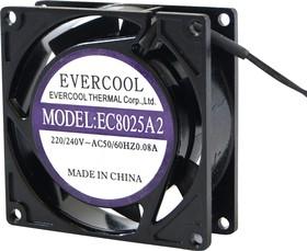 EC8025A2HBL, Вентилятор 220В, 80х80х25мм , подш. качения, 2200 об/мин