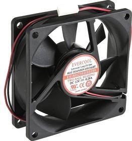 EC8025HH12B, Вентилятор 12В, 80х80х25мм , подш. качения, 3500 об/мин