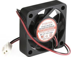 EC4010L12B, Вентилятор 12В, 40х40х10мм , подш. качения, 4500 об/мин