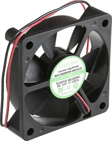 EC6015L12S, Вентилятор 12В, 60х60х15мм , подш. скольжения, 3500 об/мин